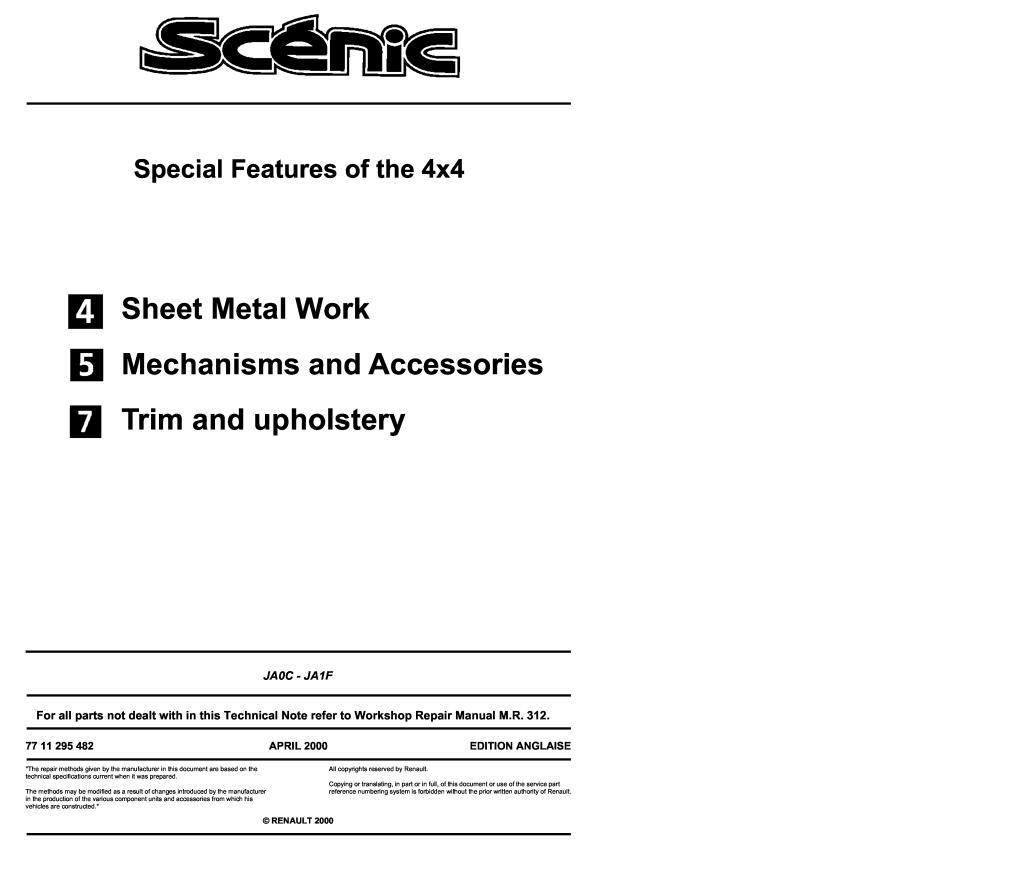 Renault scenic 2001 manual pdf