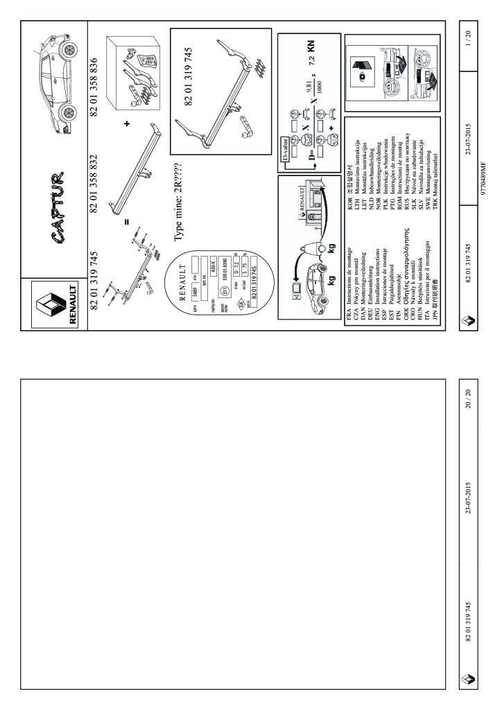 2015 Captur Swan Neck Tow Bar Fitting Instructions Pdf  3