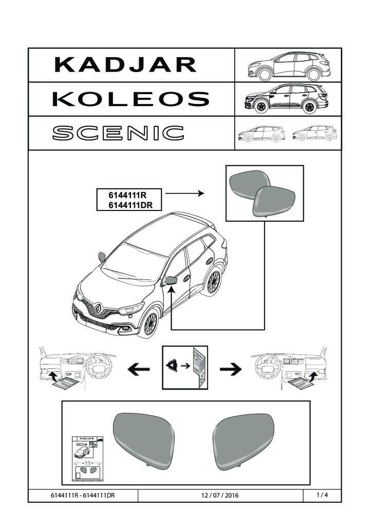 2016 Kadjar Koleos Scenic Install Manual Mirror Caps Pdf