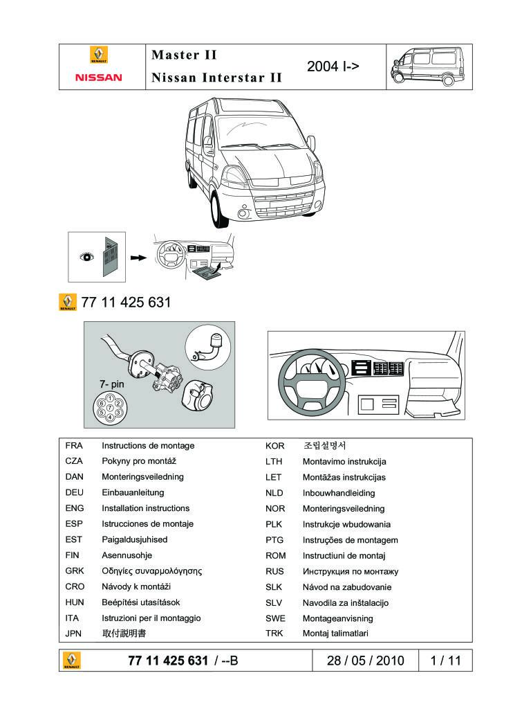 2010 Master Ii Wire Tow Bar 7 Pin Fitting Instructions Pdf