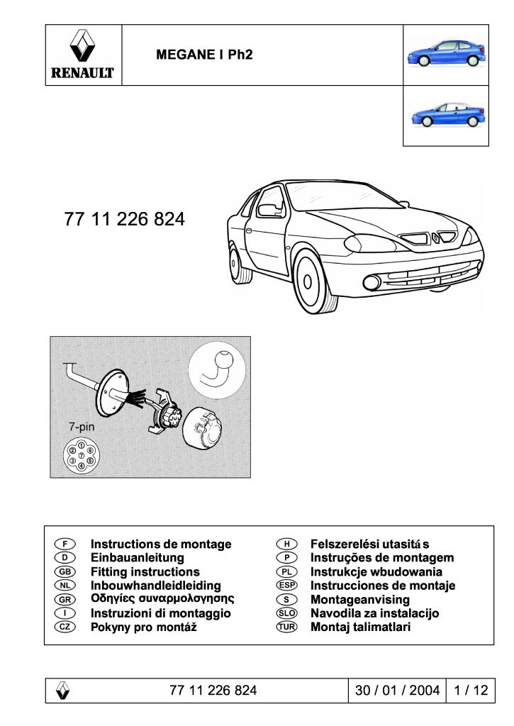 Couleur : K1 NO LOGO KF-Manche for Renault Megane II 2 MK2 2002 2003 2004 2005 2006 2007 2008 ABS poign/ée de Porte chrom/ée for Garniture