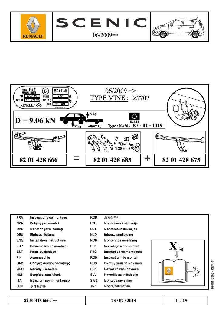 2009 Scenic Removable Tow Bar Fitting Instructions Pdf  3
